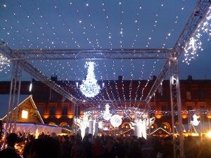 Illumination à base de LED placce du Capitole à Toulouse