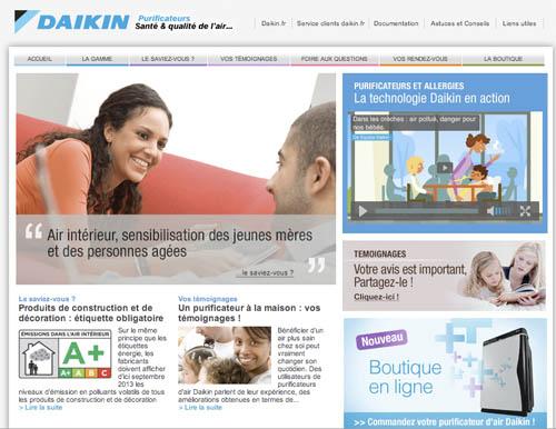 daikin passe au e commerce pour les purificateurs d air. Black Bedroom Furniture Sets. Home Design Ideas